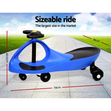 Load image into Gallery viewer, Bostin Life Keezi Kids Ride On Swing Car - Blue Baby & > Cars