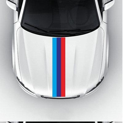Bostin Life Flag Striped Car Hood Vinyl Sticker Body Decal (Tricolor) Vehicles And Parts >