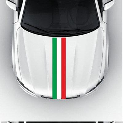 Bostin Life Flag Striped Car Hood Vinyl Sticker Body Decal (Italy) Vehicles And Parts > Accessories