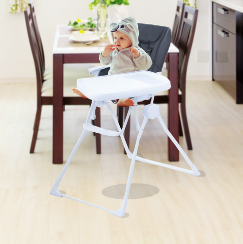 Bostin Life The Nook Foldable Baby High Chair - Black & Kids > Activity Equipment