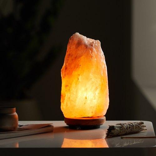 Bostin Life 2-3 Kg Himalayan Salt Lamp Rock Crystal Natural Light Dimmer Switch Cord Globes