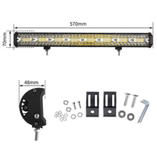 Load image into Gallery viewer, Bostin Life 23 Inch Cree Led Light Bar Spot Flood Combo Driving Lamp Suv W/ Plate Frame Dropshipzone