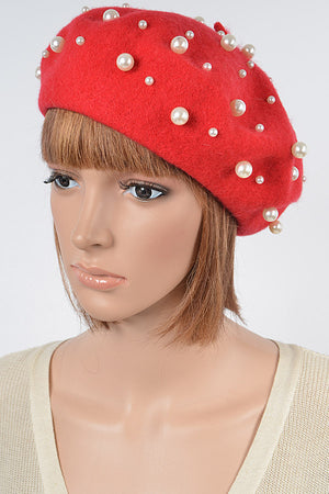 Open image in slideshow, Fashionable Hat With Pearl Details.