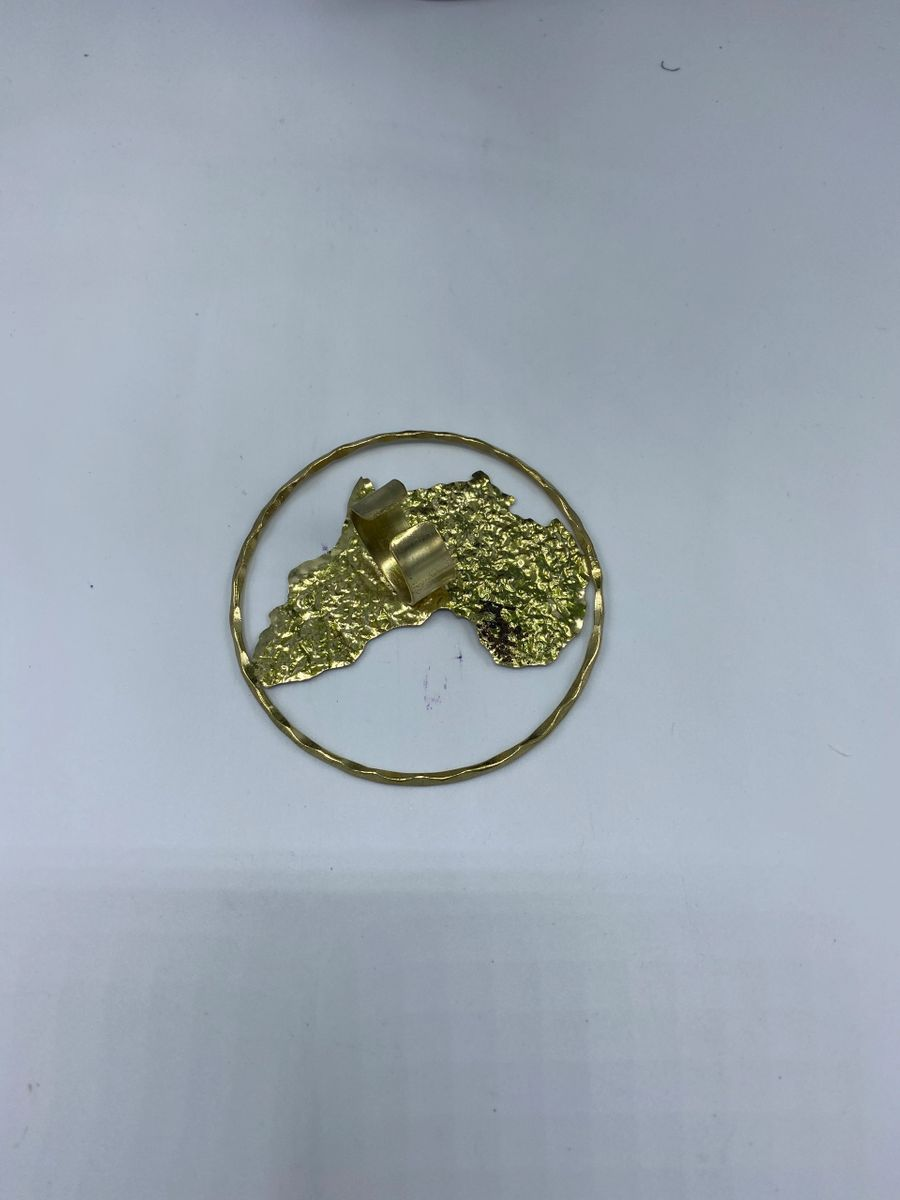 brass casted ring africa continent
