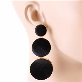 LONG VELVET EARRING