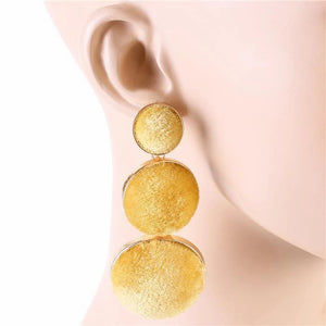 Open image in slideshow, LONG VELVET EARRING