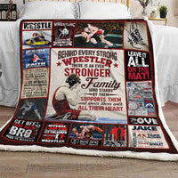 Behind Every Strong Wrestler There Is An Even Stronger Family GS-CL-LD3010 Fleece Blanket