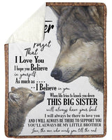 A Little Brother To Brother With Love Trending For Family Fleece Blanket