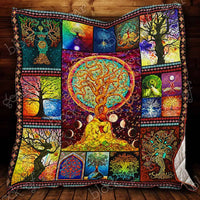 Tree Of Life Quilt Ct06 , Quilt Blanket