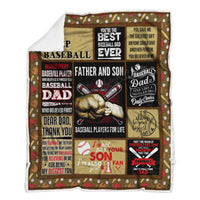 Father And Son, Baseball Sofa Sherpa Blanket P418 Father Day Blanket - Father Day Gift