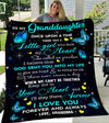 Custom Blanket Butterfly To My Granddaughter Blanket - Gift for Granddaughter - Fleece Blanket