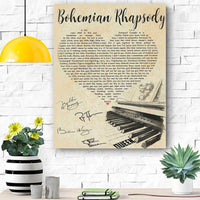 BOHEMIAN RHAPSODY CANVAS PRINTS WALL ART - Matte Canvas