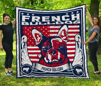 CHQ071712 French Bulldog  3D Quilt Blanket