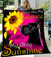 Custom Blanket Great Dane My Sunshine Blanket - Fleece Blanket