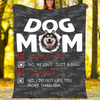 Customs Blanket Husky Dog Mom Blanket - Fleece Blanket