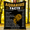 Custom Blanket Aquarius Facts Blanket - Fleece Blanket