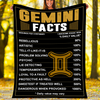Custom Blanket Gemini Facts Blanket - Fleece Blanket