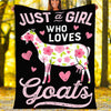 Custom Blanket Goats Blanket - Fleece Blanket
