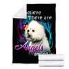 Customs Blanket Bichon Angels Among Us Classic Dog Blanket - Fleece Blanket