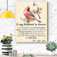 To My Husband In Heaven Canvas Print Wall Art - Matte Canvas - r4h1o