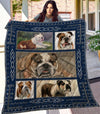 Bulldog 3D Customized Quilt Blanket ESR1305
