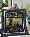 Bullmastiff 3D Customized Quilt Blanket ESR1477