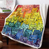 The Pride Cat Rainbow 3D Custom Personalized Fleece Blanket