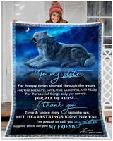 Blanket Wolf To My Sister
