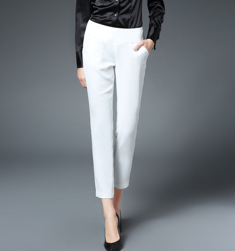 Charlotte Skinny Ankle Pant in White