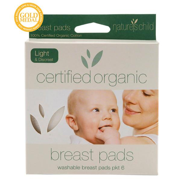 Nature's Child Certified Organic Cotton Breast Pads- 6 pack