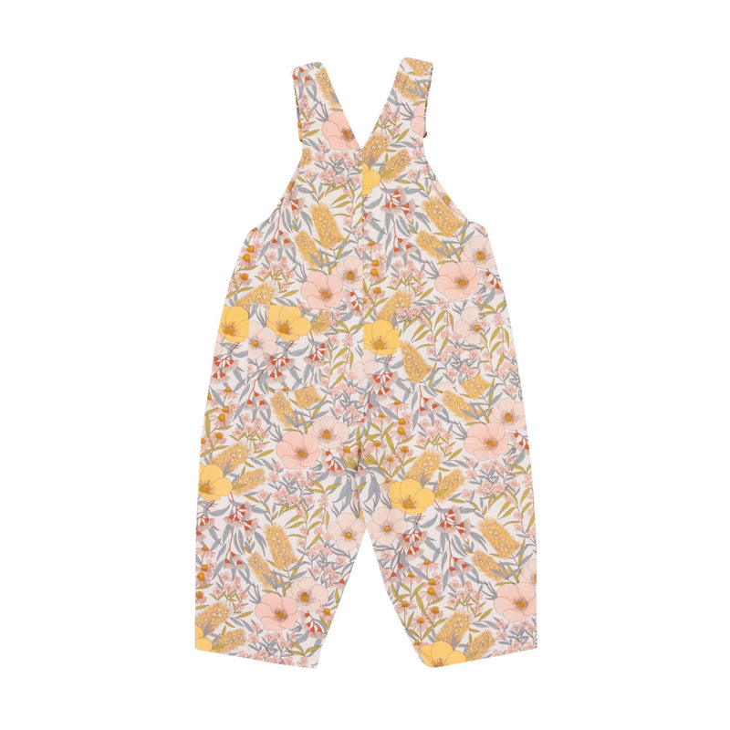 Ace Floral Denim Overalls