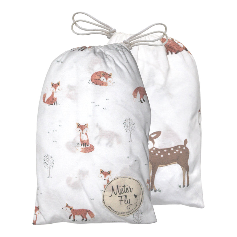Fox Bassinet Sheets