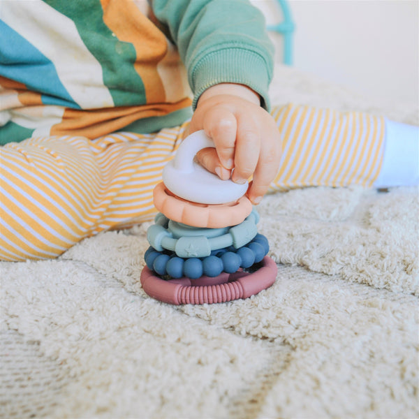 Rainbow Stacker and Teether Toy, Earth