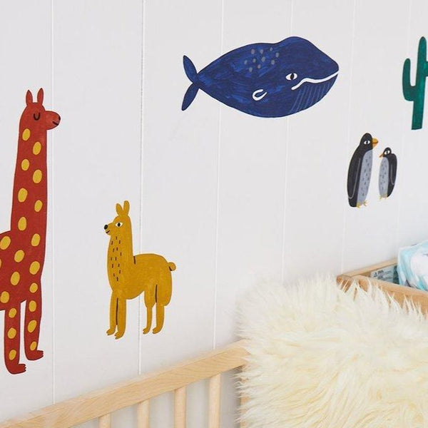 World Animals Wall Decals