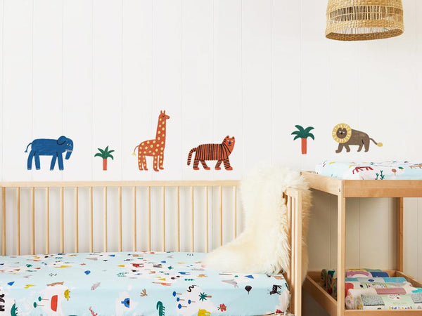 World Animals Wall Decals, Compact