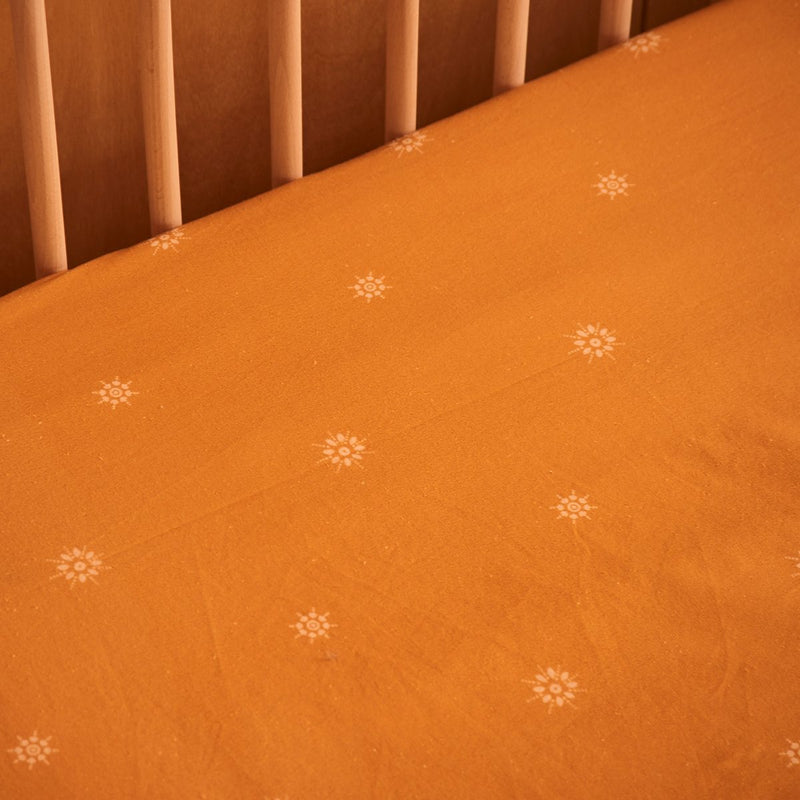 Celestial Gold Hemp/Organic Cotton Fitted Cot Sheet