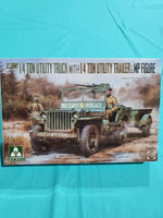 TAKOM 1:35 1/4 TON JEEP AND TRAILER