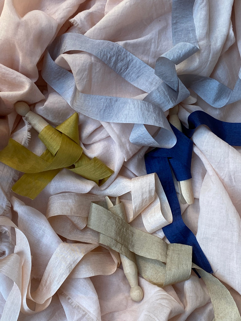 Faux silk ribbons