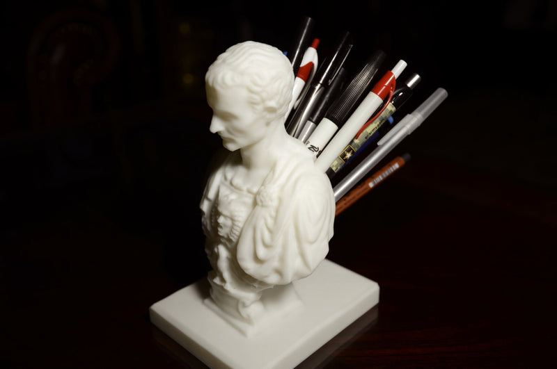 Julius Caesar Pen Holder and Pencil Holder Desktop Organizer