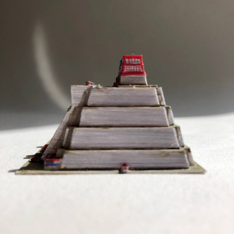 Templo Mayor - Tenochtitlan (Mexico City) - Scaled 100% Accurate Model Miniature Tabletop Diorama Architecture