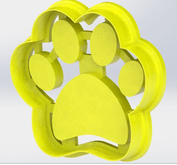 Dog Footprint Paw Print Cookie Cutter Labrador German Shepherd Golden Retriever Bulldog Poodle Beagle Rottweilers Corgi