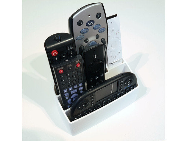 Remote Stand Fits 7 REMOTES! Perfect for Sony, Samsung, Apple, Amazon Fire Stick, Roku, Android, LG, Toshiba, Hisense Tv Remotes!