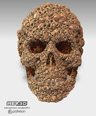 Aztec Mayan Death Skull Of Skulls Human Skull Artifact Skull Sculpture Desk Oranament Multiple Sizes And Colors Fast shipping guaranteed.