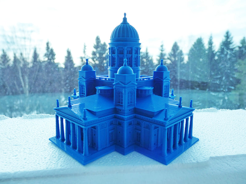 Helsinki Cathedral - Helsinki Finland Full - Scaled 100% Accurate Model Miniature Tabletop Diorama Architecture Famous Finland Landmark