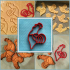 Rooster Cookie Cutter | Chicken | Fun Cookie Cutter | Fowl | Chicken Nuggets | Farm Animal | Farmer | Rural