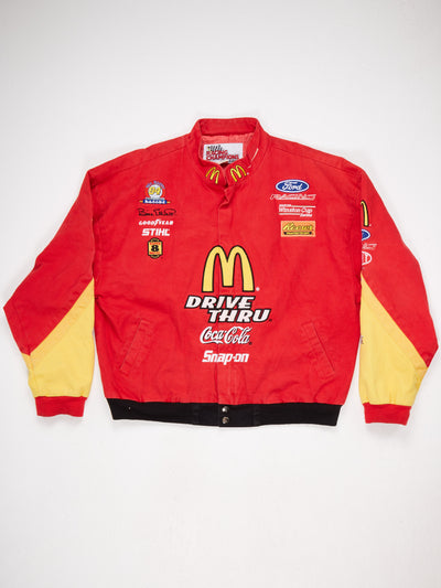 McDonalds Branded Multi Patch Racing Jacket Red / Multi Size XXL