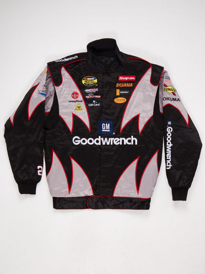 Goodwrench Branded Multi Patch Racing Jacket Black / Grey / Red Size Medium