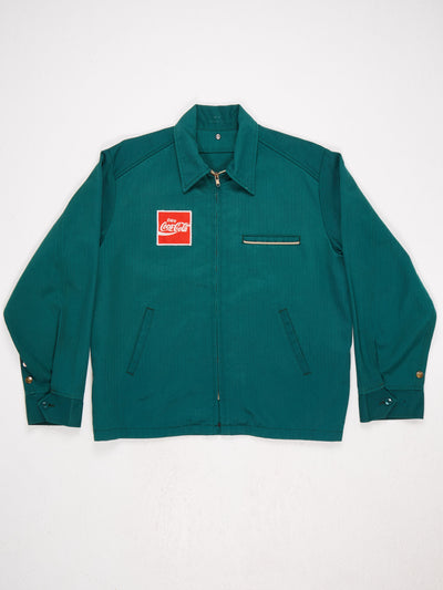 Coca  Cola Zip Up Jacket  Small Badge on front and larger badge on the reverse  Button Cuffs Green / Red / White Size Medium