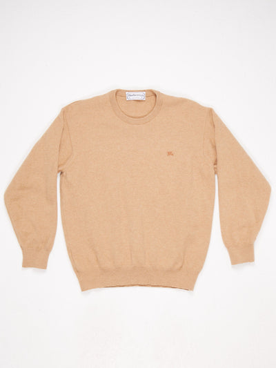 Burberry Crew Neck Knit  Camel Size Medium
