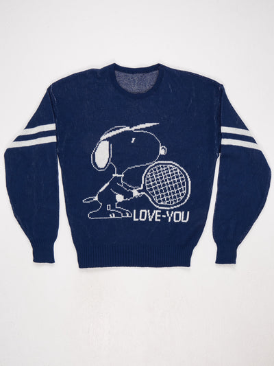 Snoopy Loves You Knit Blue / White Size Medium
